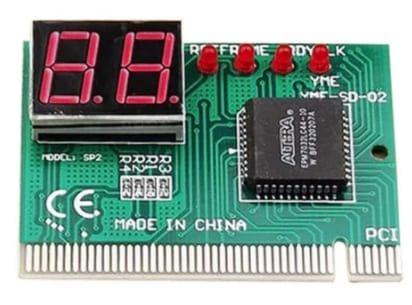 tarjeta pci display codigo depuracion placa base