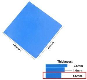 termal pads 1.5mm refrigeracion pasiva vrm y mosfet
