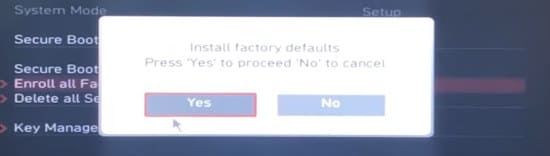 image19 secure msi install factory defaults