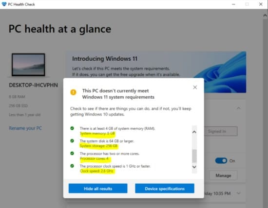 image25 pc healt windows 11 cumplimiento requisitos
