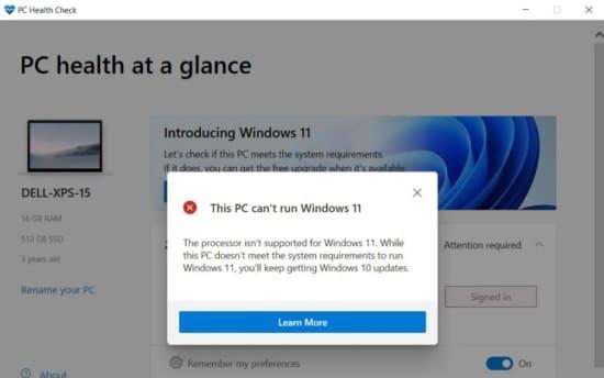 image26 pccheck NO se cumplen requisitos windows 11