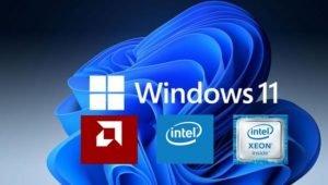 windows 11 en intel, amd y xeon